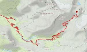 Mappa gpx traccia colle del sommelier